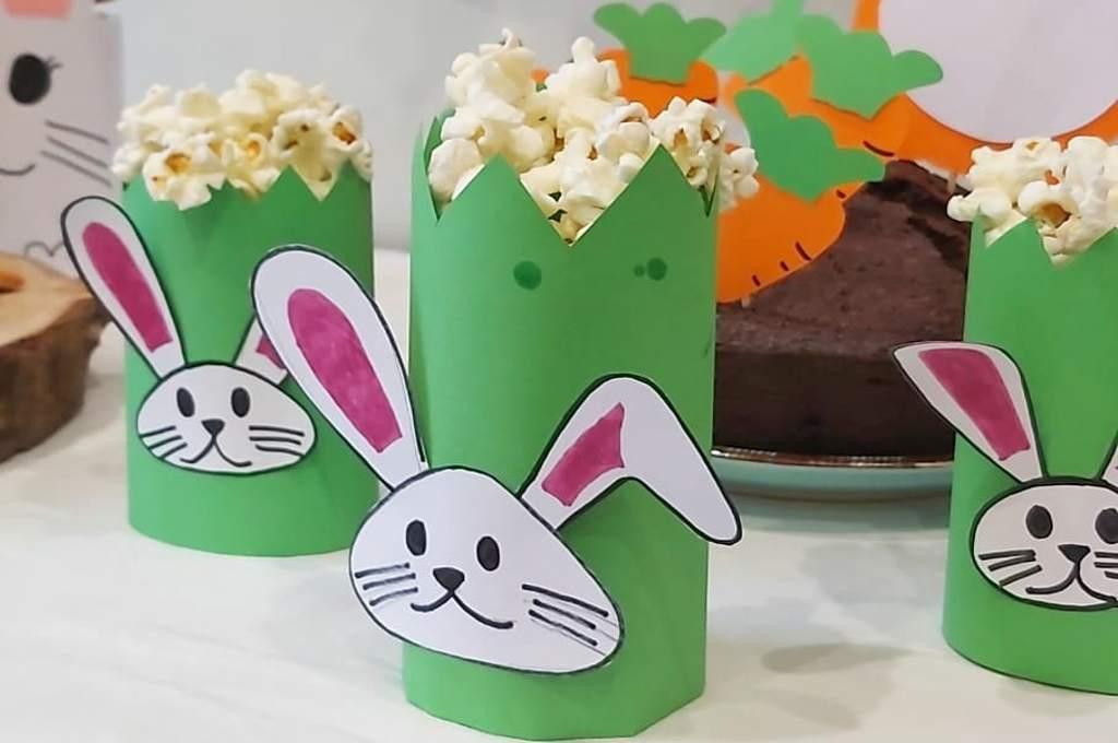 Manualidades para hacer con los niños, Jardinera de conejo