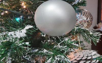Diy Árbol de navidad nevado